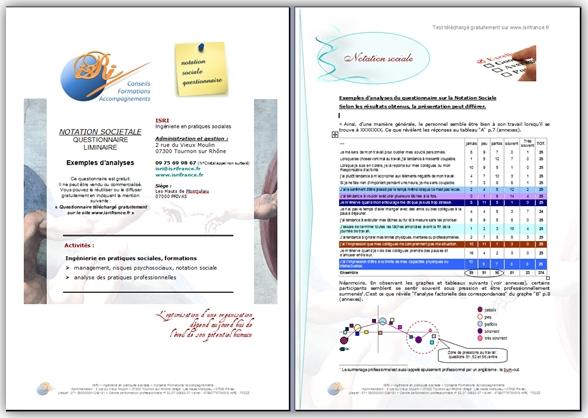 Test - Questionnaire liminaire Notation Sociale - Vignette