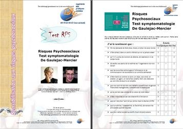Test Risques Psychosociaux Gaulejac-Mercier - Risques psychosociaux ISRI #3